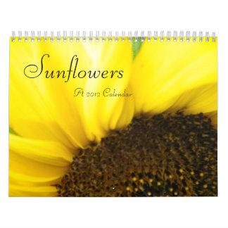 Calendario 2012 de la colección del girasol