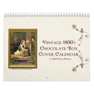 Calendario 2012 de la cubierta de caja del chocola