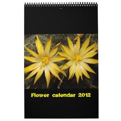 Calendario 2012 de la flor