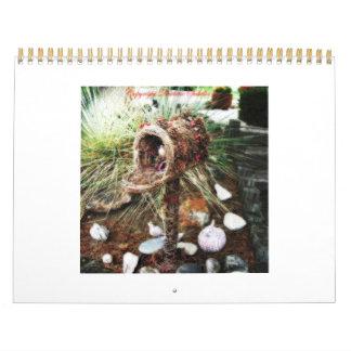 Calendario 2012 de la flor de Cresta del La