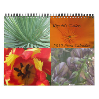 Calendario 2012 de la flora de la galería de Kiyos