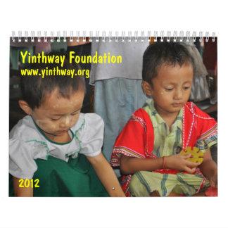Calendario 2012 de la fundación de Yinthway