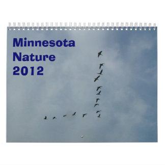 Calendario 2012 de la naturaleza de Minnesota