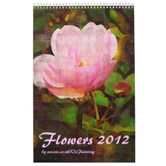 Calendario 2012 de la pintura al óleo de las
