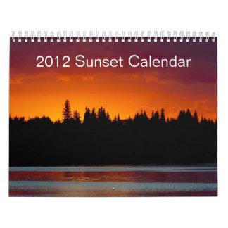 Calendario 2012 de la puesta del sol