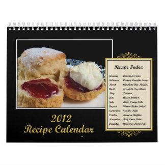 Calendario 2012 de la receta
