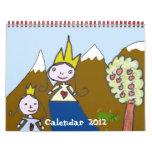 Calendario 2012 de los dibujos de Children´s