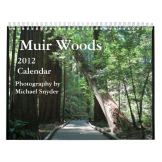Calendario 2012 de maderas de Muir