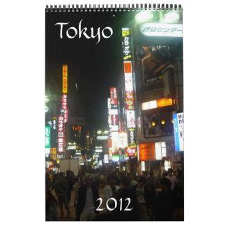 calendario 2012 de Tokio