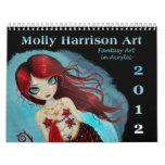 Calendario 2012 del arte de la fantasía por Molly