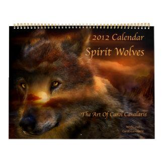 Calendario 2012 del arte de los lobos del alcohol