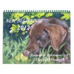 Calendario 2012 del arte del labrador retriever