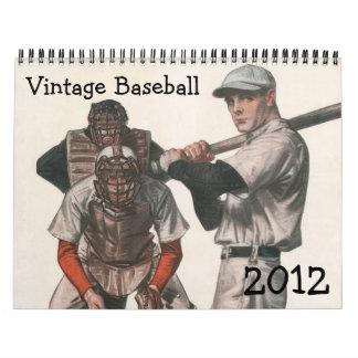 Calendario 2012 del béisbol del vintage