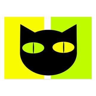 Calendario 2012 del bolsillo del gato negro 2 tarjetas de visita grandes