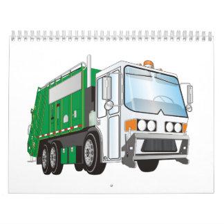 calendario 2012 del camión de basura