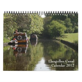 Calendario 2012 del canal de Llangollen