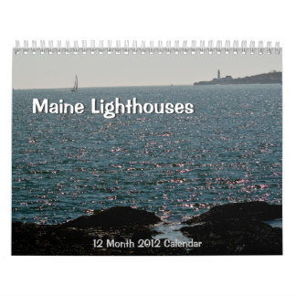 Calendario 2012 del faro de Maine