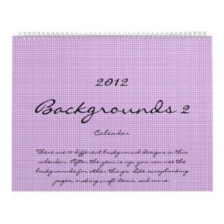 Calendario 2012 del fondo 2