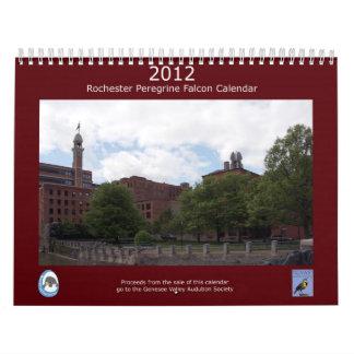 Calendario 2012 del halcón de peregrino de Rochest