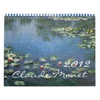 Calendario 2012 del impresionismo de Claude Monet