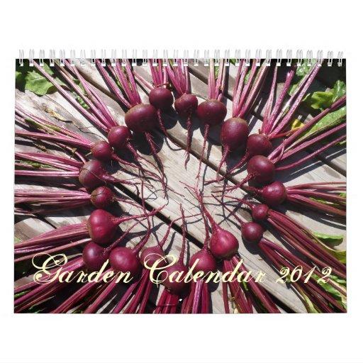 Calendario 2012 del jardín