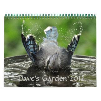 Calendario 2012 del jardín de Dave