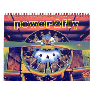 Calendario 2012 del motor de los aviones/del