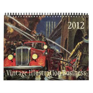 Calendario 2012 del negocio del ejemplo del vintag
