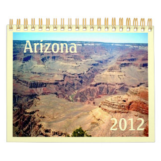 Calendario 2012 del paisaje de Arizona