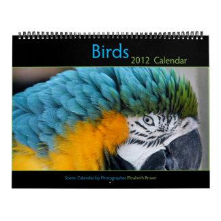 Calendario 2012 del pájaro