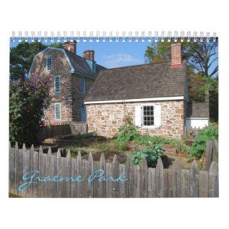 Calendario 2012 del parque de Graeme