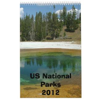 Calendario 2012 del parque nacional de los