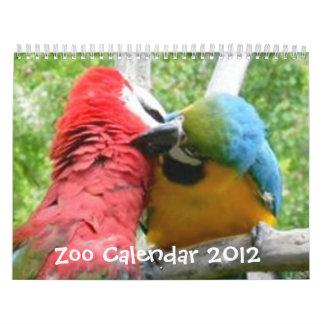 Calendario 2012 del parque zoológico