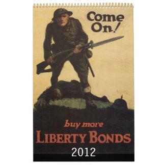 Calendario 2012 del poster de la guerra del