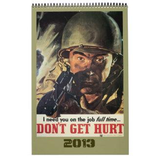 Calendario 2012 del poster de la guerra mundial de