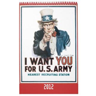 Calendario 2012 del poster de la guerra mundial