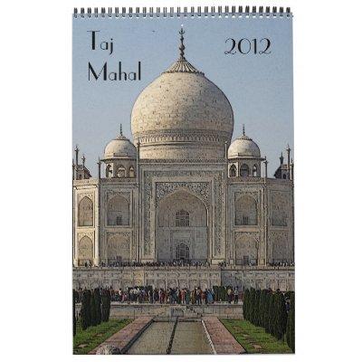 calendario 2012 del Taj Mahal