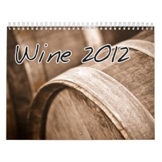 Calendario 2012 del vino