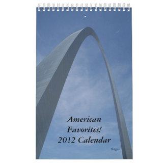 Calendario 2012. ¡Favoritos americanos!