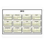 Calendario 2012 los regalos de Zazzle del MUSEO Postales