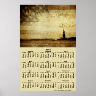 Calendario 2012 nosotros el poster de la gente