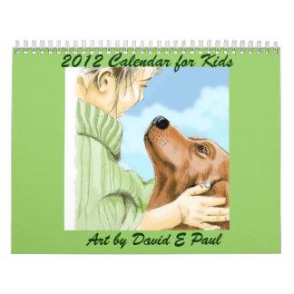 Calendario 2012 para los niños con arte de David