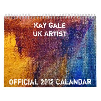 Calendario 2012 por el vendaval de Kay del artista