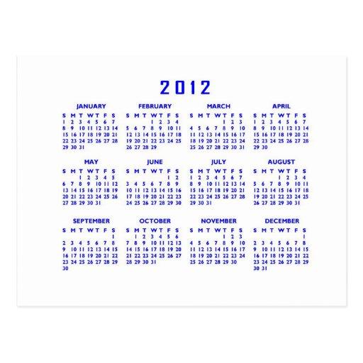 Calendario 2012 postal