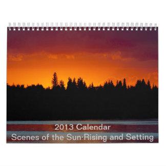 Calendario 2013 - ajuste y sol naciente