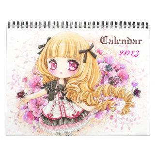 Calendario 2013 - Chicas hermosos del chibi del