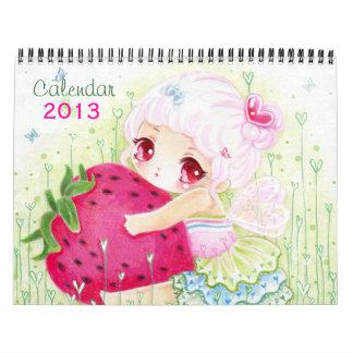 Calendario 2013 - Chicas hermosos del chibi del an