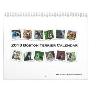 Calendario 2013 de Boston Terrier
