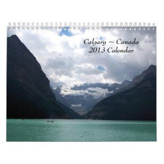 Calendario 2013 de Calgary Canadá