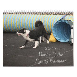 Calendario 2013 de la agilidad del border collie